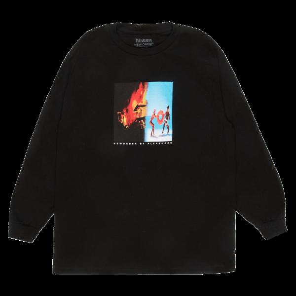 "Camiseta Manga Longa Pleasures ""Republic"" Preta"