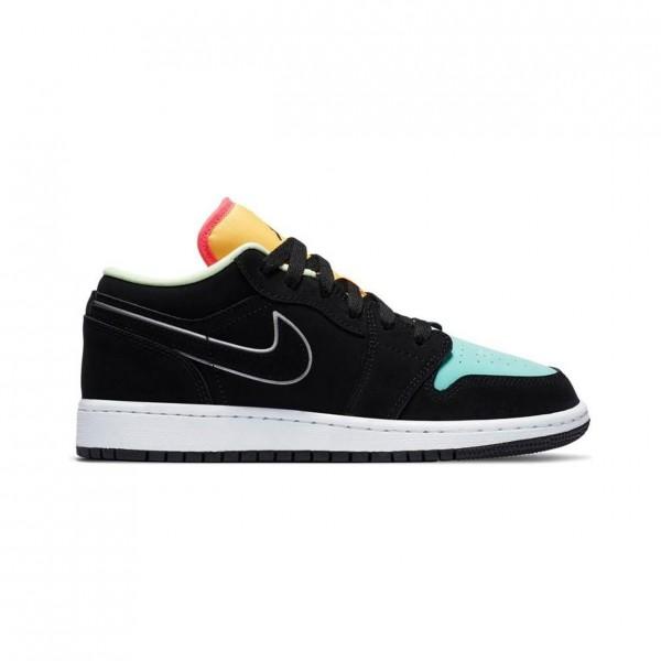 """Nike Jordan 1 Low """"Black Aurora Green Laser Orange"""""""