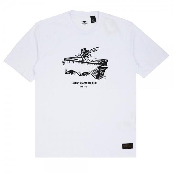 Camiseta Levi's Skateboarding - Anvil Branca