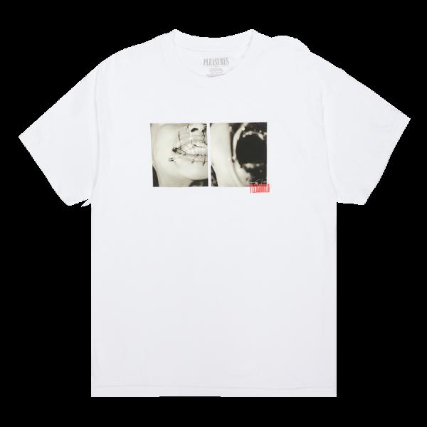 """Camiseta Pleasures """"Kinky"""" Branca"""
