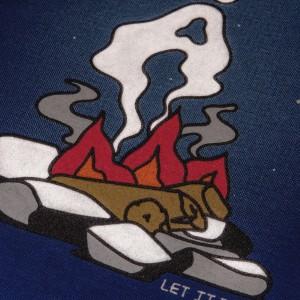 Camiseta à Outdoor Feelings - Let It Burn Navy