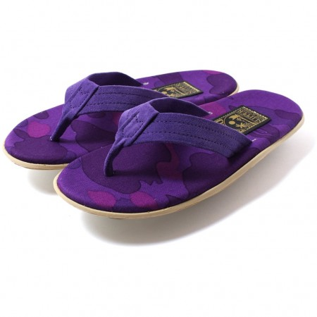 "Sandália Bape x Island Slipper ""Purple Camo"""