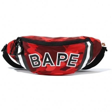 Bape Waist Bag Color Camo (SS20) Vermelha