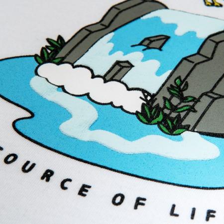 Camiseta à Outdoor Feelings - Waterfall Azul Claro