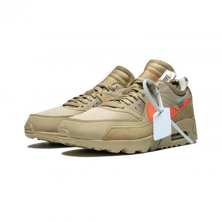 Tênis Nike x Off-White - Air Max 90 Desert Ore (VNDS)