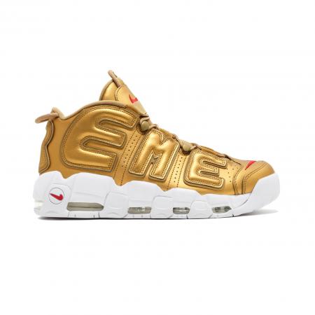 """Tênis Nike x Supreme - Air More Up Tempo """"Suptempo"""" Gold (USADO)"""
