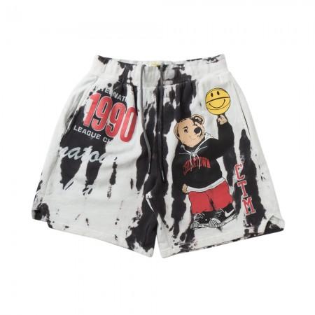 Shorts Moletom Chinatown Market - Varsity Bear Tie Dye Preto