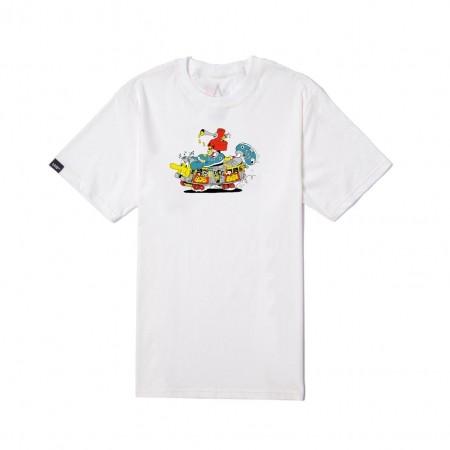 "Camiseta Ease ""Bob Train"" Branca"