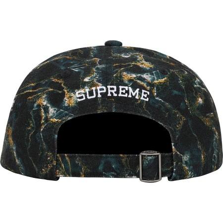 Boné 6 Panel Supreme - Marble Black