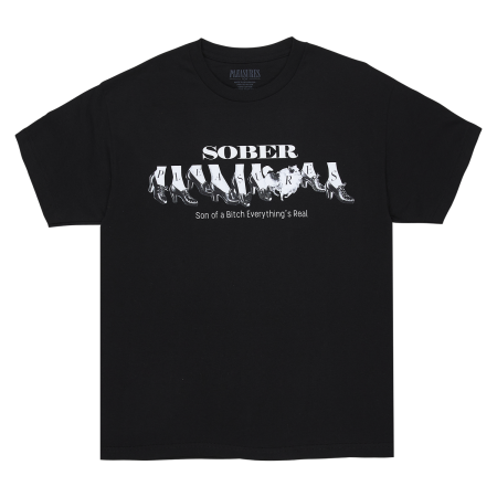 """Camiseta Pleasures """"sober"""" Preta"""
