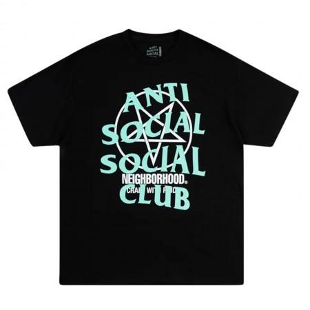 Camiseta Anti Social Social Club x Neighborhood - Filth Fury Preta