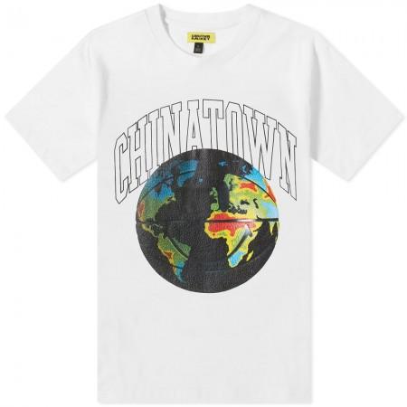 "Camiseta Chinatown Market ""GLOBAL CITIZEN BBALL"" Branca"