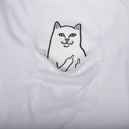 Camiseta RIPNDIP - Lord Nermal Pocket Tee Branco