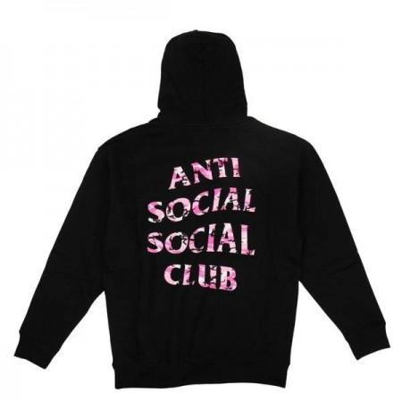 Moletom Anti Social Social Club x Undefeated - Pink Camo Preto