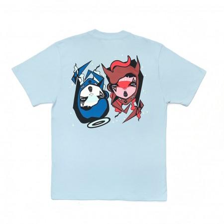 Camiseta à x Mari Mats Azul Claro