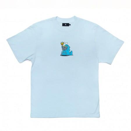 """Camiseta à Novos Artistas """"Dino"""" Azul"""