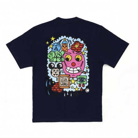 Camiseta à x Hatory Pabllo Azul