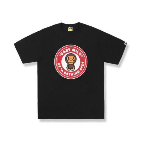 Camiseta Bape - Baby Milo Red Logo Tee Preta/Vermelho