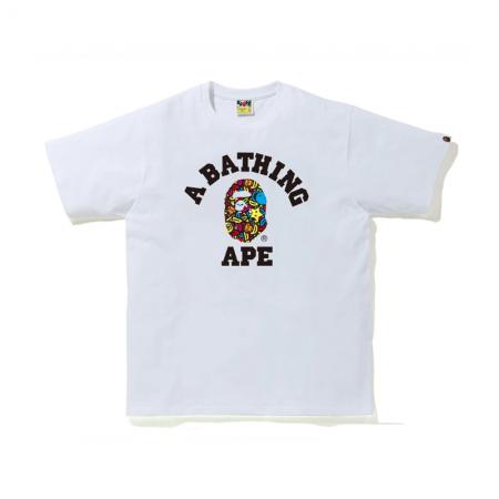 Camiseta Bape - Milo Banana Pool College Tee Branca