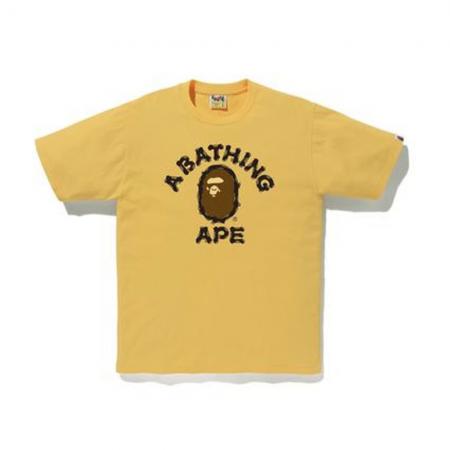 Camiseta Bape - Brush College Tee Amarela