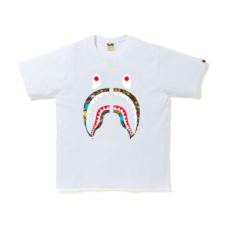 Camiseta Bape - Milo Banana Pool Shark Tee Branca