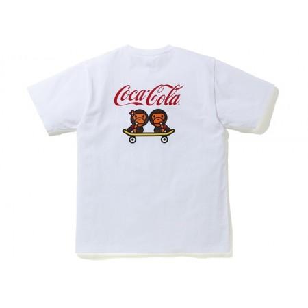 Camiseta Bape X Coca Cola - Milo Skateboarding Tee Branca