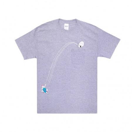 Camiseta RIPNDIP - Hoops Pocket Tee Cinza