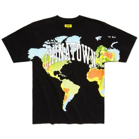 "Camiseta Chinatown Market ""GLOBAL CITIZEN HALFTONE"" Preta"