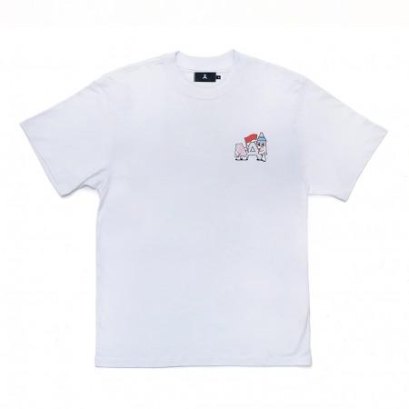 Camiseta à x Yubia Branca