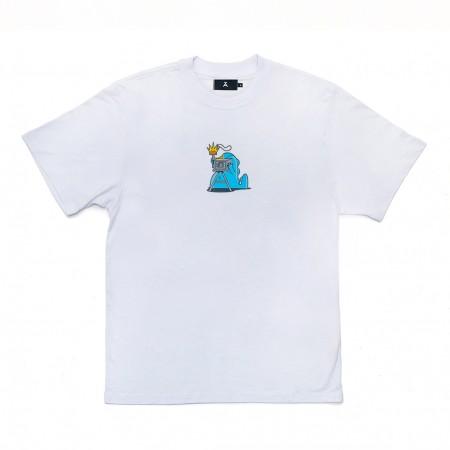 """Camiseta à Novos Artistas """"Dino"""" Branca"""