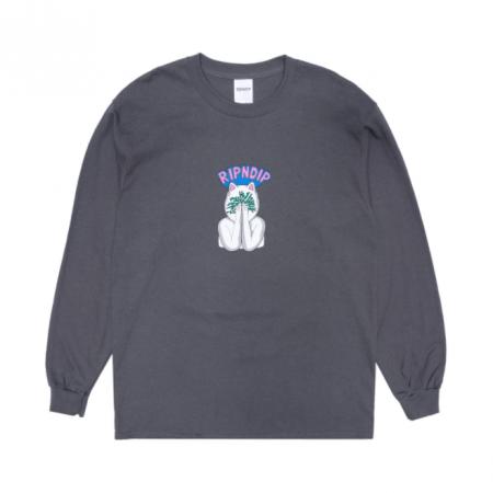 """Camiseta Manga Longa Ripndip """"Overthinking"""" Charcoal"""