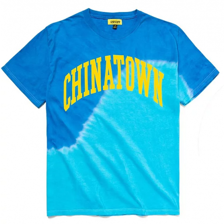 "Camiseta Chinatown Market ""Blue Wave Tie Dye UV Arc"" Azul"