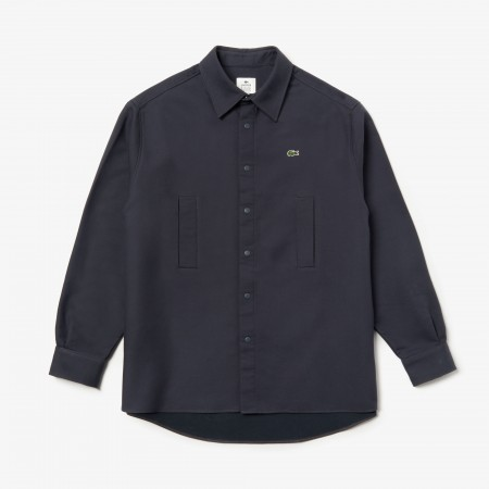 Camisa Lacoste Live - Thick Flannel Overshirt Navy
