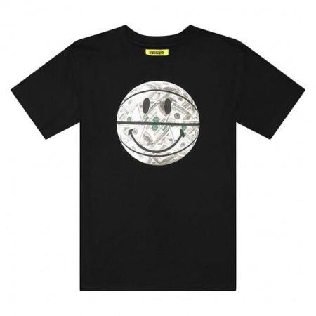 """Camiseta Chinatown Market """"SMILEY MONEY BALL"""" Preta"""