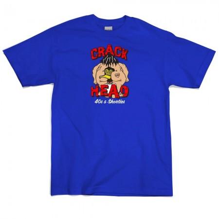 Camiseta 40's & Shorties - Crack Head Azul