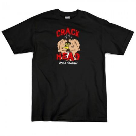 Camiseta 40's & Shorties - Crack Head Preta