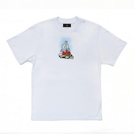 Camiseta à Outdoor Feelings - Let It Burn Branca