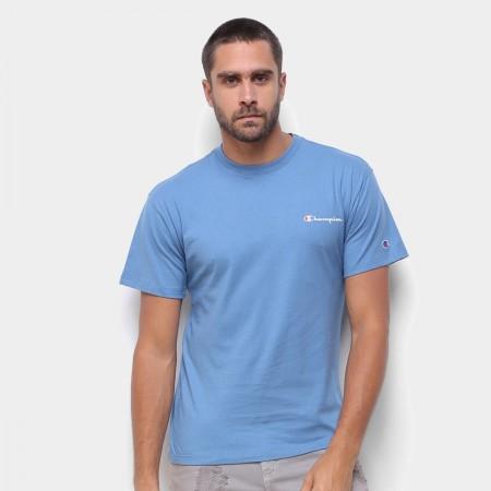 Camiseta Champion - Mini Logo Script Azul