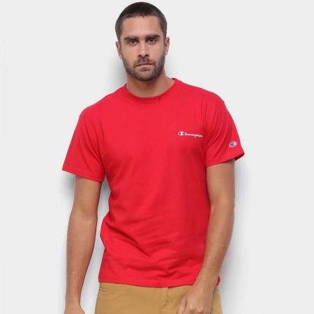 Camiseta Champion - Mini Logo Script Vermelha
