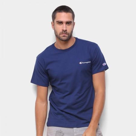 Camiseta Champion - Mini Logo Script Navy