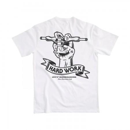 Camiseta Levi's Skateboarding - Hard Work Branca
