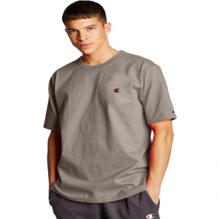 Camiseta Champion - Logo C Embroidered Khaki