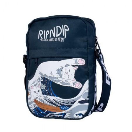 Shoulder Bag RIPNDIP - Great Wave Navy