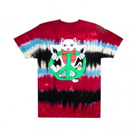 Camiseta RIPNDIP - Peace No Love Tee Tie Dye