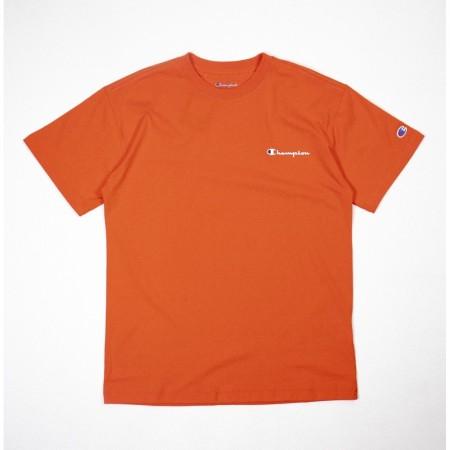Camiseta Champion - Mini Logo Script Laranja