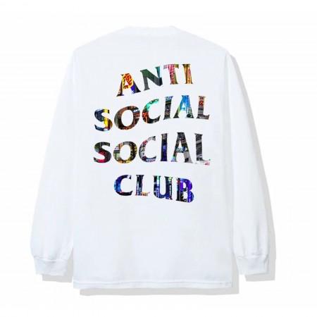 Camiseta Manga Longa Anti Social Social Club - Yakisoba (Japan Exclusive) Branca
