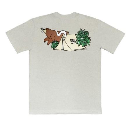 Camiseta à Outdoor Feelings - Shatter Bear Cinza Mescla