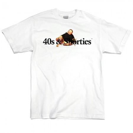 "Camiseta 40's & Shorties ""Monk"" Branca"