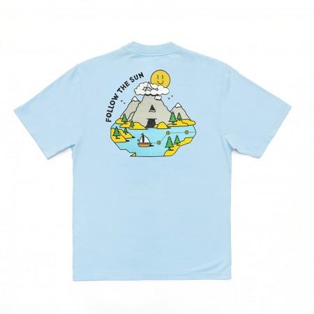 Camiseta à Outdoor Feelings - Follow The Sun Azul Claro