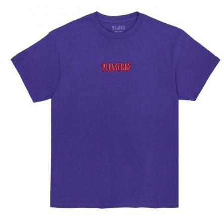 """Camiseta Pleasures """"CORE EMBROIDERED"""" Roxa"""